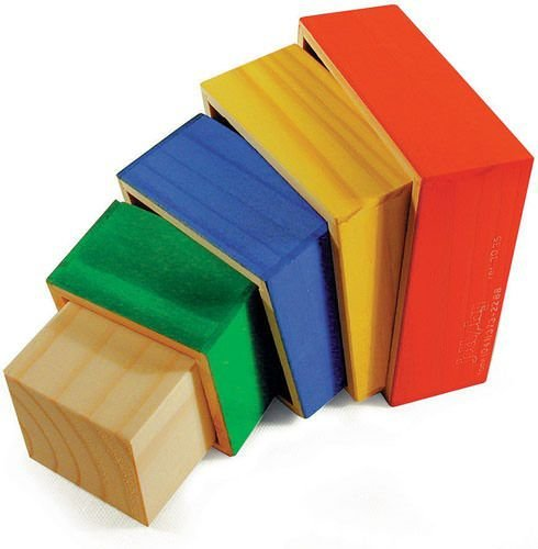 Cubos De Encaixe 5 Cubos De Madeira