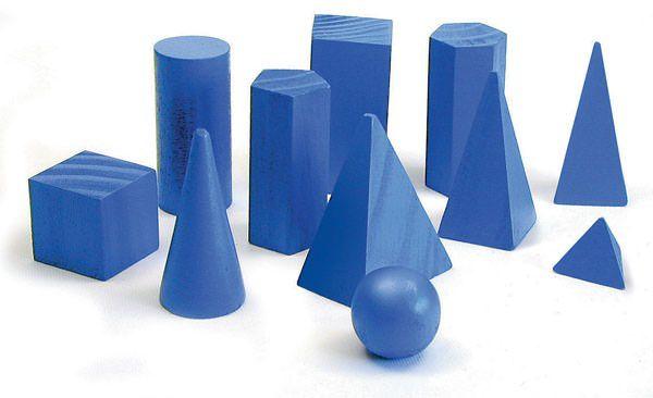 Brinquedo Educativo Sólidos Geométricos 11peças Em Madeira - JOTTPLAY