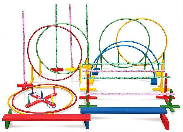 Brinquedo Educativo Linha Movimento Nº1 Ativa 62 peças - JOTTPLAY