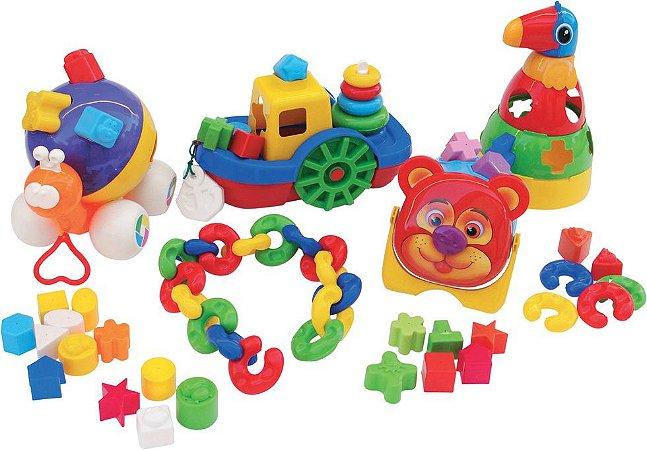 Kit Baby Didáticos Com 66 Peças Em Plastico