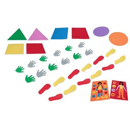 Brinquedo Educativo Kit psicomotricidade em E.V.A  com 34 Peças - CARLU