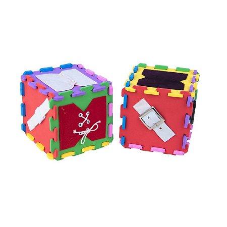 Brinquedo Educativo Cubos De Atividades Em E.V.A  Com 12 Peças - CARLU