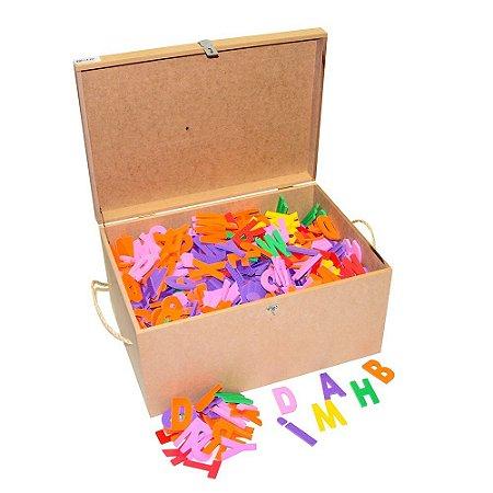 Brinquedo Educativo Maleta Com 1.000 Letras Em E.V.A  7 cm - CARLU