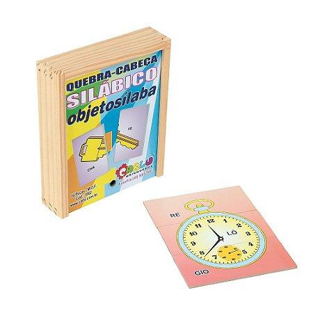 Brinquedo Educativo Quebra Cabeça Silabico Objetosilaba Em Mdf Com 16 Peças - CARLU
