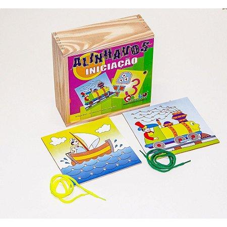 Brinquedo Educativo Alinhavos Iniciacao Em Mdf Com 10 Peças - CARLU