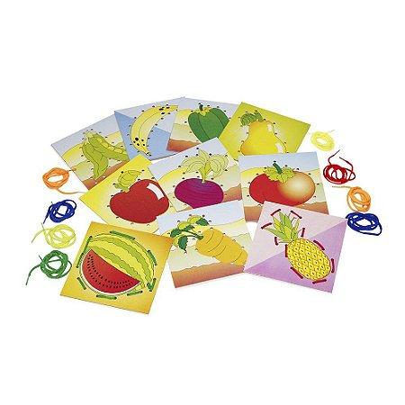 Alinhavos Frutas E Legumes Em Mdf Com 10 Peças