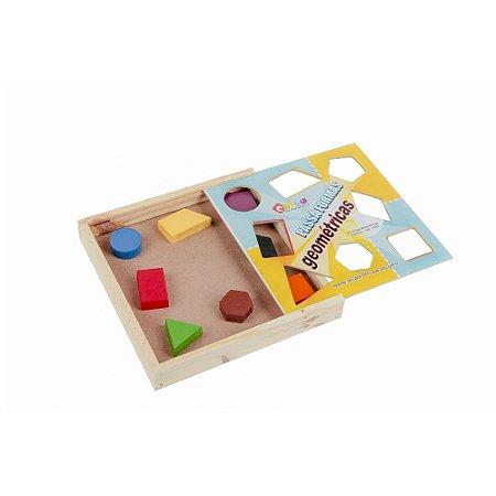 Brinquedo Educativo Passa Formas Geométricas Em Mdf Com 8 Peças - CARLU