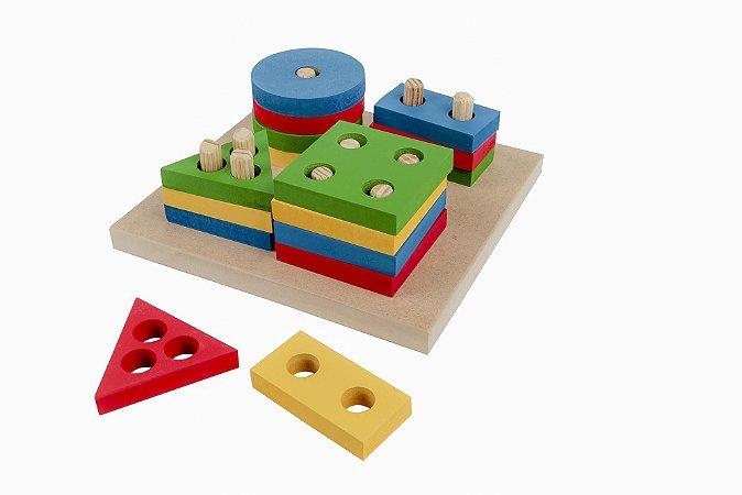 Brinquedo Educativo Prancha De Selecao Pequena Em Mdf Com 16 Peças - CARLU