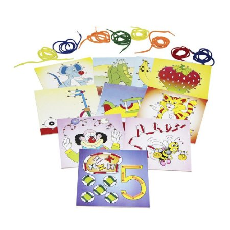 Brinquedo Educativo Alinhavos Sortidos Em Mdf Com 10 Peças - CARLU