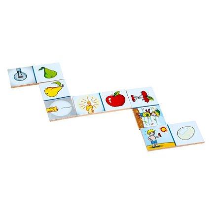 Domino Associacao De Ideias Mdf 28 Peças