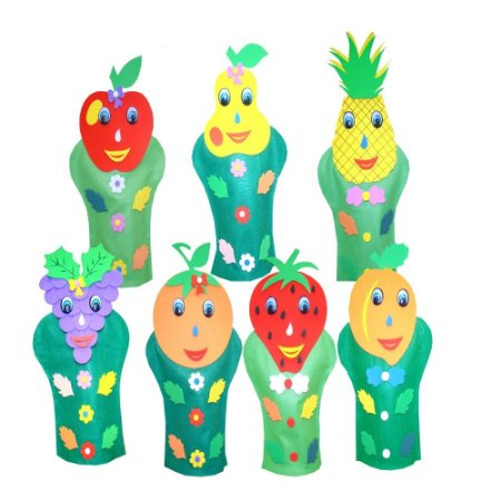 Fantoches Frutas Feltro 7 Personagens