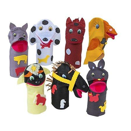 Fantoches Animais Domesticos Feltro 7 Personagens - CARLU