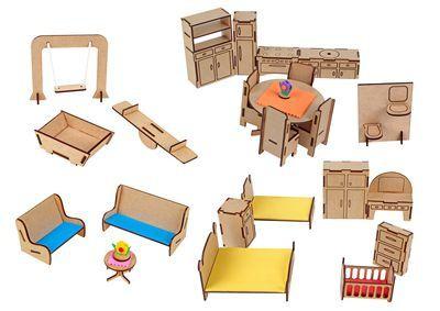 Conj Mobiliario Com 25 Peças Mdf