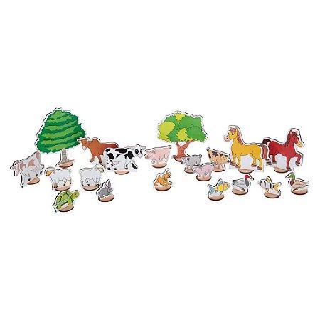 Brinquedo Educativo Sitio Encantado Em Mdf Com 50 Peças - CARLU