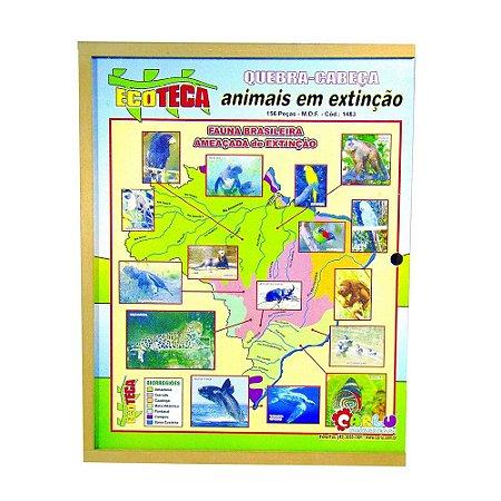 Quebra Cabeça Animais Em Extincao Em Mdf 156 Peças Mdf