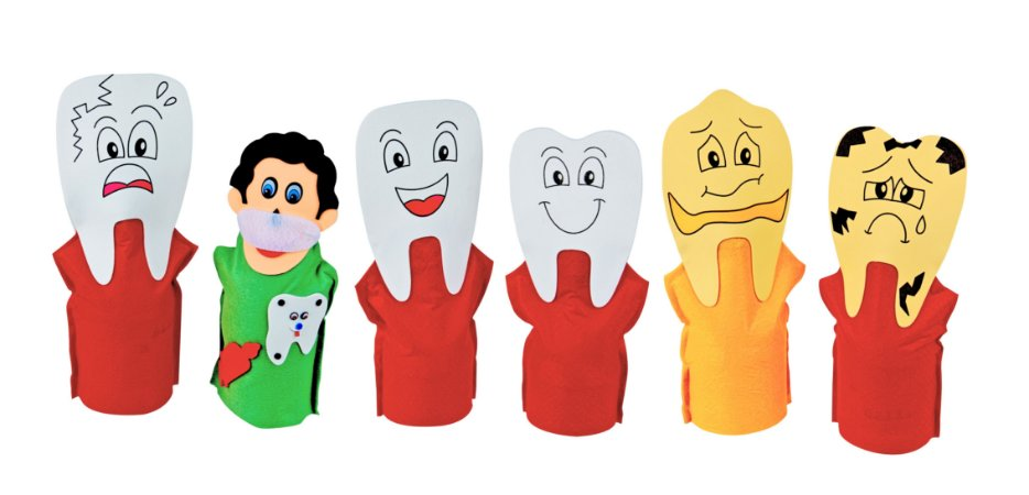 Fantoches Familia Dentaria Feltro 6 Personagens