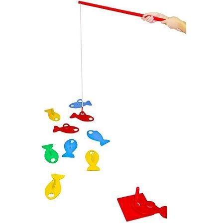 Brinquedo Educativo Pesque E Brinque Em Mdf 20 Peças - CARLU