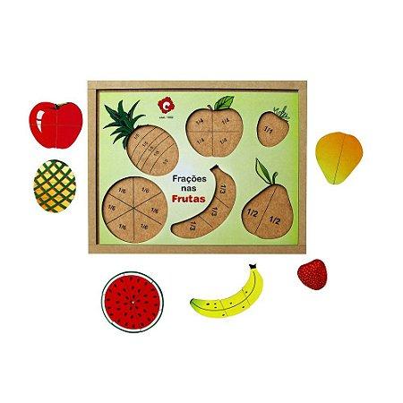 Frações Nas Frutas Base MDF 22 Peças