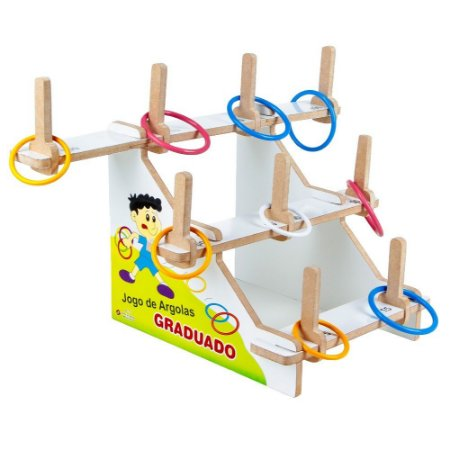 Brinquedo Educativo Jogo De Argolas Graduado Em Mdf 31 Peças Mdf - CARLU
