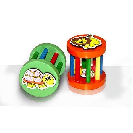 Brinquedo Educativo Rola Rola Bebê 2 Unidades Em Mdf