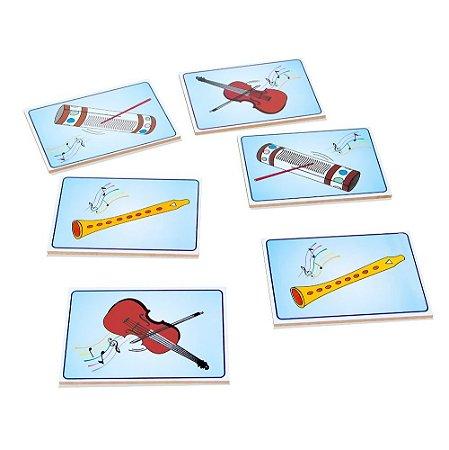 Musicalização Memória Educativa Instr. Musicais Mdf 28 Peças Madeira.