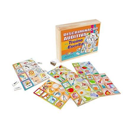 Brinquedo Educativo Discriminacao Auditiva Com Treino Da Escrita Em Mdf 78 Peças - CARLU