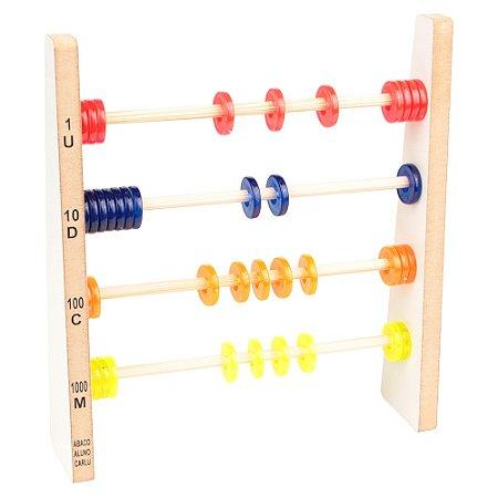 Brinquedo Educativo Abaco Aluno Translúcido De Plastico - CARLU