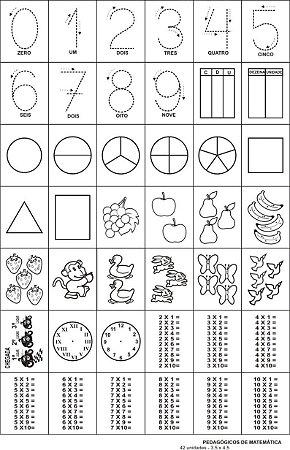 Carimbo Pedagogicos De Matemática 42 Peças - CARLU