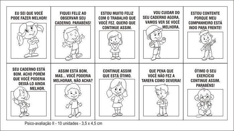 Carimbo Psico Avaliacao Ii Com 10 Peças - CARLU