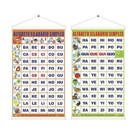 Jogo Educativo Alfabeto Silabário Simples 60 X 100 cm - CARLU