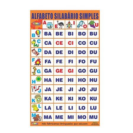 Alfabeto Silabário Simples Emb. Plástico Bolha