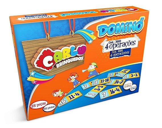 Domino 4 Operacoes Em Mdf Com 28 Peças