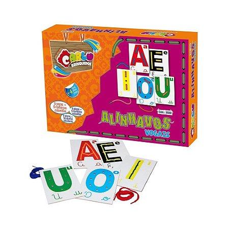 Brinquedo Educativo Alinhavos Vogais 5 Bases - CARLU
