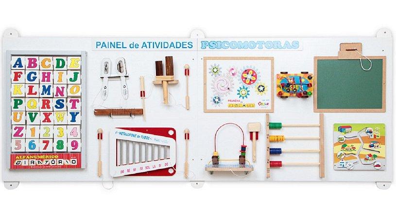 Brinquedo Educativo Painel de Atividades Psicomotoras 11 Atividades - CARLU