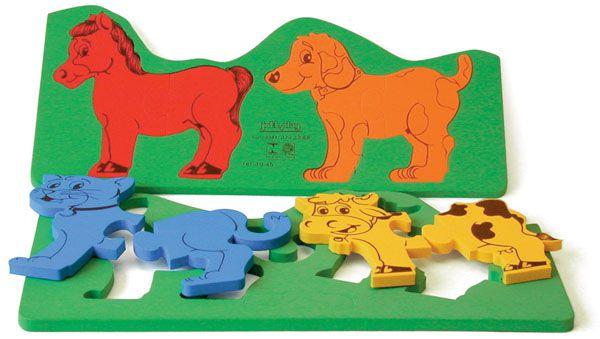 Animais De Encaixe Puzzle E.V.A.
