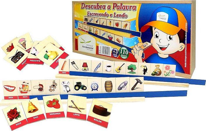 Brinquedo Educativo Descubra A Palavra Escrevendo E Lendo 110 Peças . - FUNDAMENTAL
