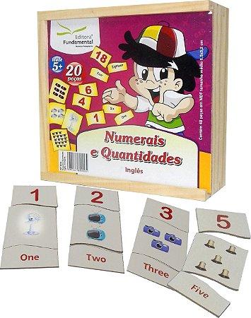 Brinquedo Educativo Numerais E Quantidades Em Ingles Emb. Com 60 Peças  - FUNDAMENTAL