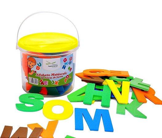 Brinquedo Educativo Balde Alfabeto Maiusc. Letras De Forma Com 26 Peças E.V.A  - FUNDAMENTAL