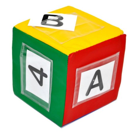 Brinquedo Educativo Cubo Variavel + 40 Cartas Alfabeto E Numeros - FUNDAMENTAL