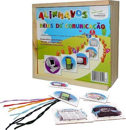 Alinhavos Meios De Comunicaçao Com 06 Peças + 06 Cadarços