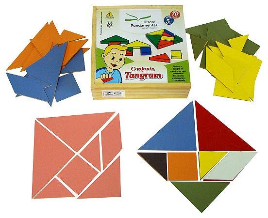 Conjunto Tangram 10 Jogos 70 Peças