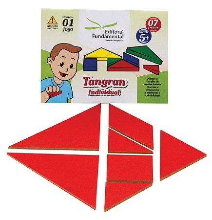 Brinquedo Educativo Tangram Individual Cartela Com 1 Jogo 07 Peças - FUNDAMENTAL