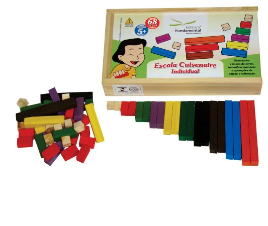 Brinquedo Educativo Escala Cuisenaire Individual Com 68 Peças - FUNDAMENTAL