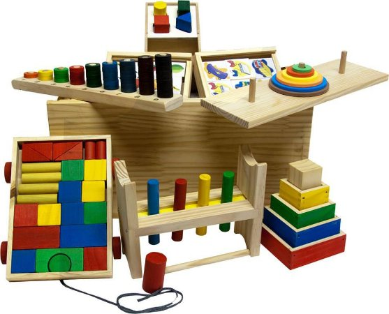Baú Pedagógico - 10 Brinquedos Pedagógicos