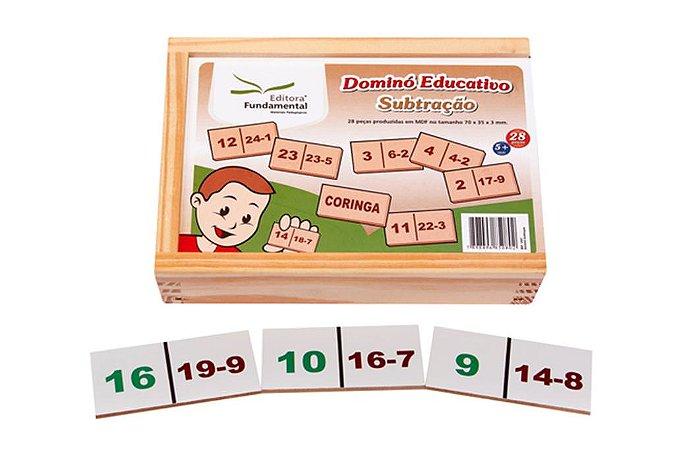 Domino Subtraçao Jogo Com 28 Peças