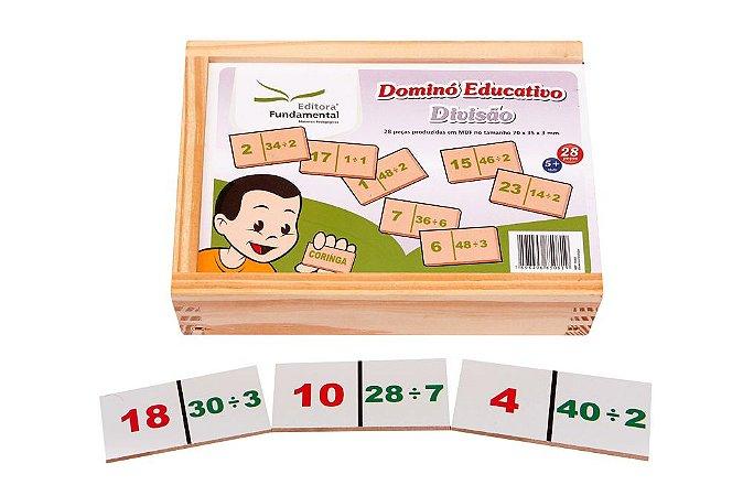 Brinquedo Educativo Dominó Divisao Jogo Com 28 Peças - FUNDAMENTAL