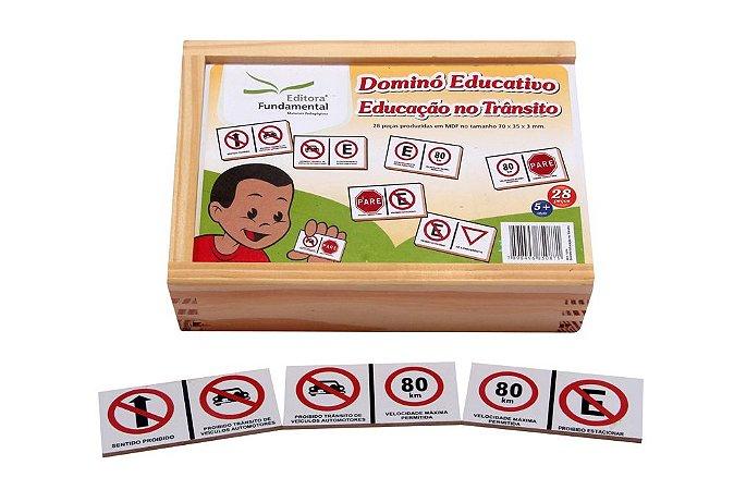 Dominó Educativo Educaçao No Transito Jogo Com 28 Peças