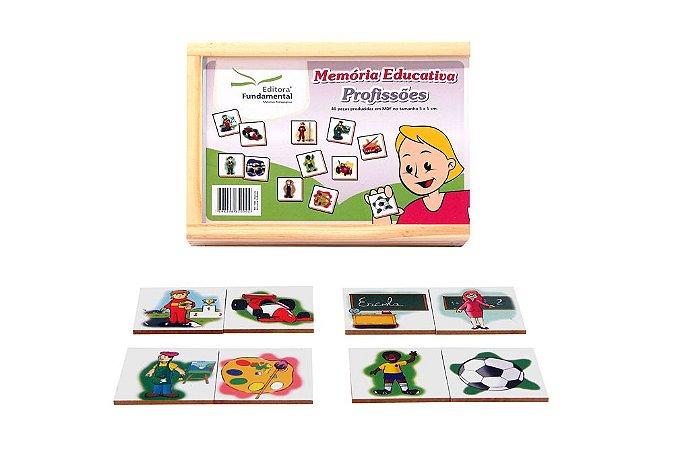 Memória Educativa Profissões Jogo Com 40 Peças