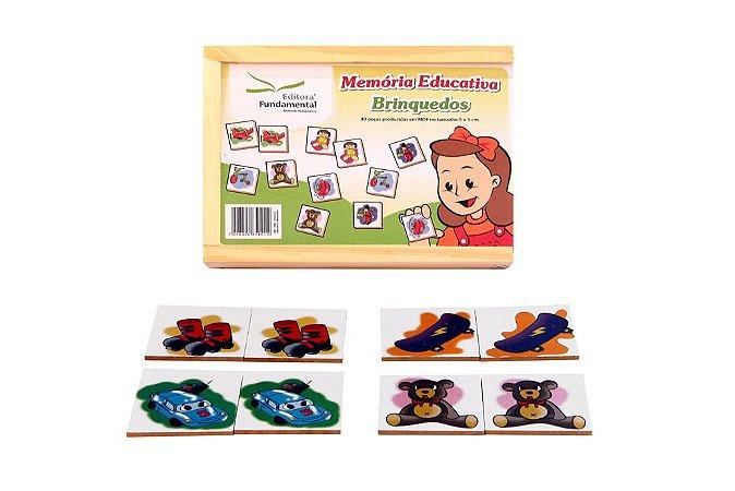 Memória Educativa Brinquedos Jogo Com 40 Peças