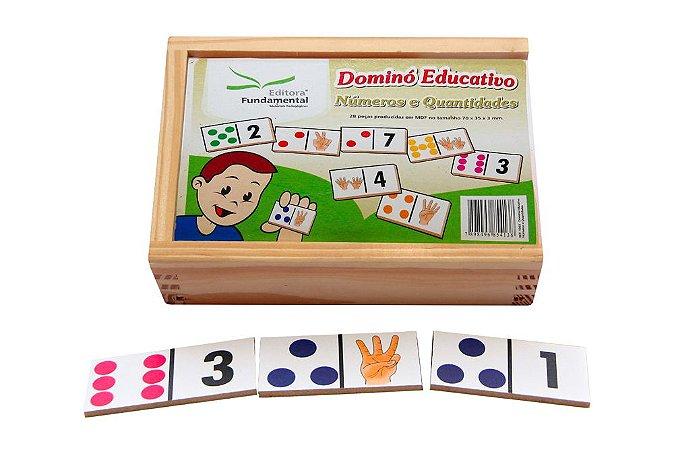 Domino Numeros E Quantidades Jogo Com 28 Peças